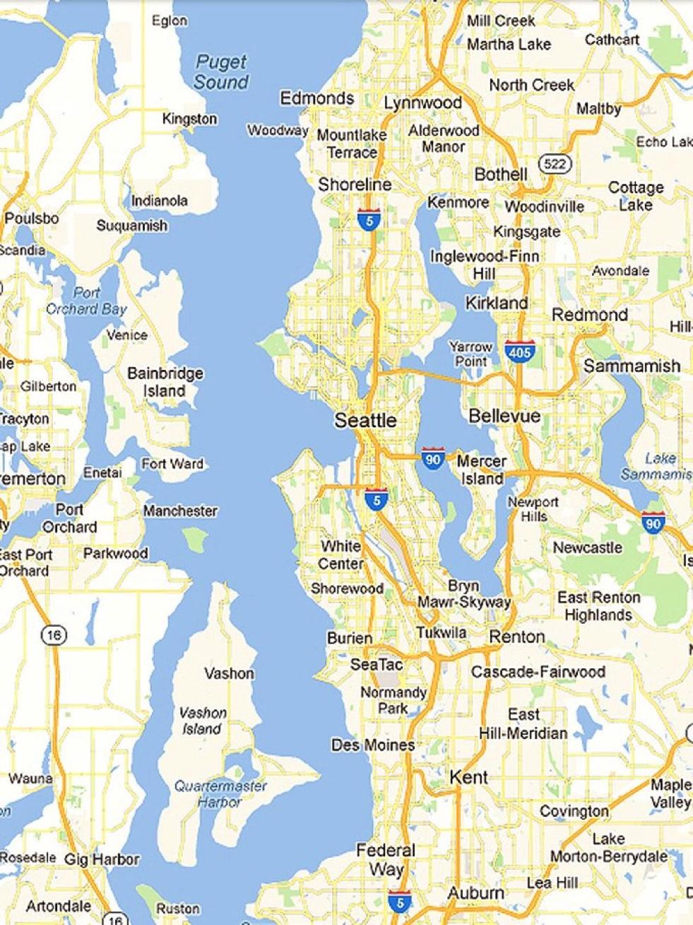 Where Is Washington Location Of Washington Seattle Washington Page